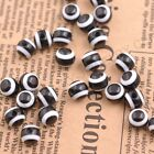 Wholesale Black & White Resin Round Stripe Beads Acrylic 6-10MM