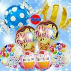 tiger print birthday cakes - HAPPY BIRTHDAY BALLOONS WONKA CANDIES SHOPKINS CAKE ANIMAL NUMBER PARTY SUPPLY A
