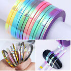 3 Rolls Nail Holographic Stickers Striping Tapes Laser Decals Nail Art Tools