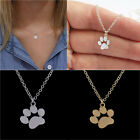 Fashion Women Pets Dogs Footprints Cat Paw Pendant Chain Charm Necklace Jewelry