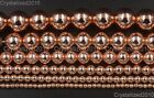 AAA Natural Rose Gold Hematite Gemstones Round Beads 2mm 4mm 6mm 8mm 10mm 16''