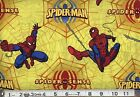 SPIDERMAN spider sense on yellow : 100% cotton licensed fabric by the 1/2 metre