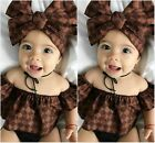 US Baby Girl Romper Outfit Clothes Sunsuit Outfits Newborn Infant Floral Jumpsui