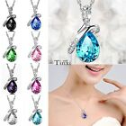 Women's Wedding Silver Chain Crystal Rhinestone Pendant Necklace Jewelry Gift