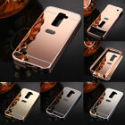Aluminum Metal Bumper Frame+ Mirror PC Back Case Cover Skin For LG Various Phone
