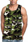 CAMOUFLAGE TANK TOP T-SHIRT HEAVY WEIGHT TANK TOP T-SHIRT TANK TOP TEE'S  6PC