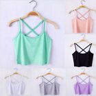 Newest Womens Scoop Neck Cropped Belly Tops Fitted Tee Stretchy Blouse Vest
