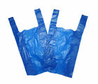 PLASTIC BLUE VEST CARRIER BAGS MEDIUM SHOPS STALLS PARTIES