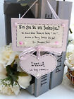 """C51 Personalised Wedding Thank you / Request """"will you be our?"""" gift plaque"""