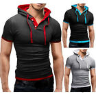 Hoodies Men 2017 Brand Male Short Sleeve Hoodie M Mixed ColorsWord Sweatshirt