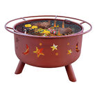 """23"""" Night Sky Outdoor Patio Wood Fireplace Fire Pit"""