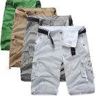 New Men Summer Army Camo Camouflage Work Cargo Shorts Pants Trousers Slacks