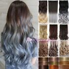 Real Thick Clip In Hair Extensions 5 Clips Full Head as Human Hair Extentions Fg