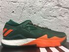 New Mens ADIDAS Crazylight Boost Low 2016 NCAA Miami Hurricanes Shoe B42978