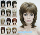 Womens New Synthetic 14 colors short Curly Ladies Daily Cosplay Hair wig+Wig Cap