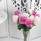 Touch Fabric Wedding Party Home Decor Artificial Fake Pink Rose Flower Bouquet