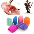 Makeup Silicone Brush Cleaner Glove Egg Scrubber Cosmetic Cleaning Board Pad Mat