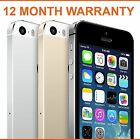 Apple iPhone 5S 16gb 32gb 64gb Space Grey Silver Gold Unlocked Smartphone