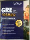 GRE Premier, Math, and Verbal Kaplan Workbook Course Editions Excellent Conditio