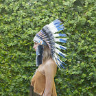 Exeter Rugby Colour Indian Headdress War Bonnet Real Feathers Festivals