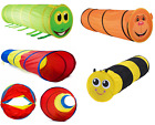 Kids Animal Pop Up Crawl Tunnel Tube Play Tent Indoors/outdoors Garden Toy