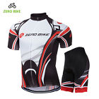 Mens Club Bike Cycling Race Short Sleeve Jersey Shorts Kits Shirt Tights Pad Set