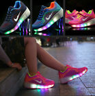 Girl Boy LED Light Shoe With Wheels Retractable Roller Skate Shoes Kids Sneakers
