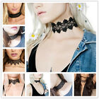 Fashion Jewelry Charm Women Gothic Retro Choker Hollow Out Lace Bib Necklace