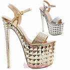 Women's shoes sandals transparencies high heels plateau heel 20 sexy new 52306