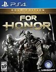 For Honor: Gold Edition (Sony PlayStation 4, 2017) PS4 Brand New Sealed!!!