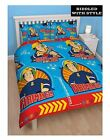 Childrens Fireman Sam Brave To The Core Print Reversible Rotary Duvet Cover Set