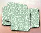 Pattern // Green, White, Vintage Style, Unique // Coaster [NEW!] 108