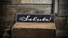 Wooden Salute Italian -Rustic Handmade Vintage Distressed Wooden Sign ENS1000804