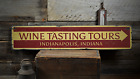 Wine Tasting Tours, Custom Wine Cellar - Rustic Distressed Wood Sign ENS1001422