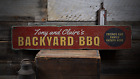 Backyard BBQ, Custom Barbecue, Grill - Rustic Distressed Wood Sign ENS1001806