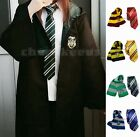 1 Set Harry Potter Robe Gryffindor Cosplay Costume Kid Adult Cloak + Tie + Scarf