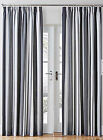 GREY STRIPE PENCIL PLEAT TAPE TOP PAIR OF READY MADE CURTAINS