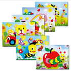 DIYPuzzle Cute Cartoon Sticker 3D Collage Kids Jigsaw Child Educational Toy Gift