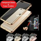 Ultra Thin Slim Hard Case Cover For Apple iPhone 7 / 7 Plus + Tempered Glass