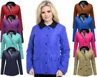 Ladies Women Long Sleeve Quilted Padded Pocket Coat Jacket Top Plus Sizes 16-20