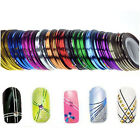 12 x Nail Sticker Rolls Striping Tape Line Nail Art UV GEL Tips DIY Kit 12 Color