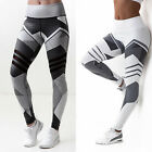 Us Womens Yoga Fitness Leggings Running Stretch Sports High Waist Pants Trousers