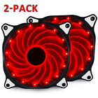 15 LED 120mm PC CPU Computer Case Cooling Neon Quite Clear Fan Mod 4 Pin 3 Pin