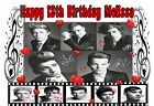 EDIBLE ICING 1D ONE DIRECTION BLACK & WHITE PHOTO RED HEART BIRTHDAY CAKE TOPPER