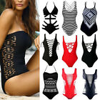 New Women Bandeau Brazilian Swimsuit One Piece Monokini Swimwear Bikini Suit FO