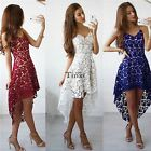 Womens Lace Evening Cocktail Party Dress Ladies Sleeveless Long Maxi Dress TXWD