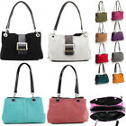 LeahWard Women's Small Size Real Suede Leather Shoulder Bag With Three Zip Pocke