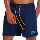 ESCATCH Waterproof Sport Drawstring Loose Thin Lightweight Solid Beach Shorts