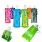 480ml Reusable Foldable Collapsible Water Bottles Bag Camp Cycling Outdoor Sport