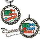 2nd or 3rd Grade Rocks School Children's Bottle Cap Necklace Handcrafted Jewelry